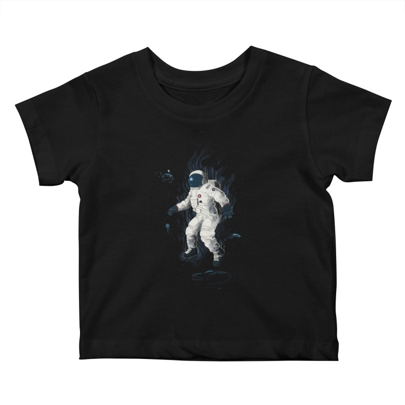 Lost in the abyss of space Kids Baby T-Shirt by oktopussapiens's Artist Shop