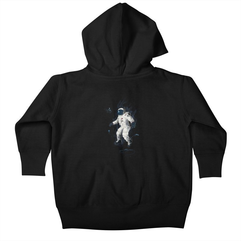 Lost in the abyss of space Kids Baby Zip-Up Hoody by oktopussapiens's Artist Shop