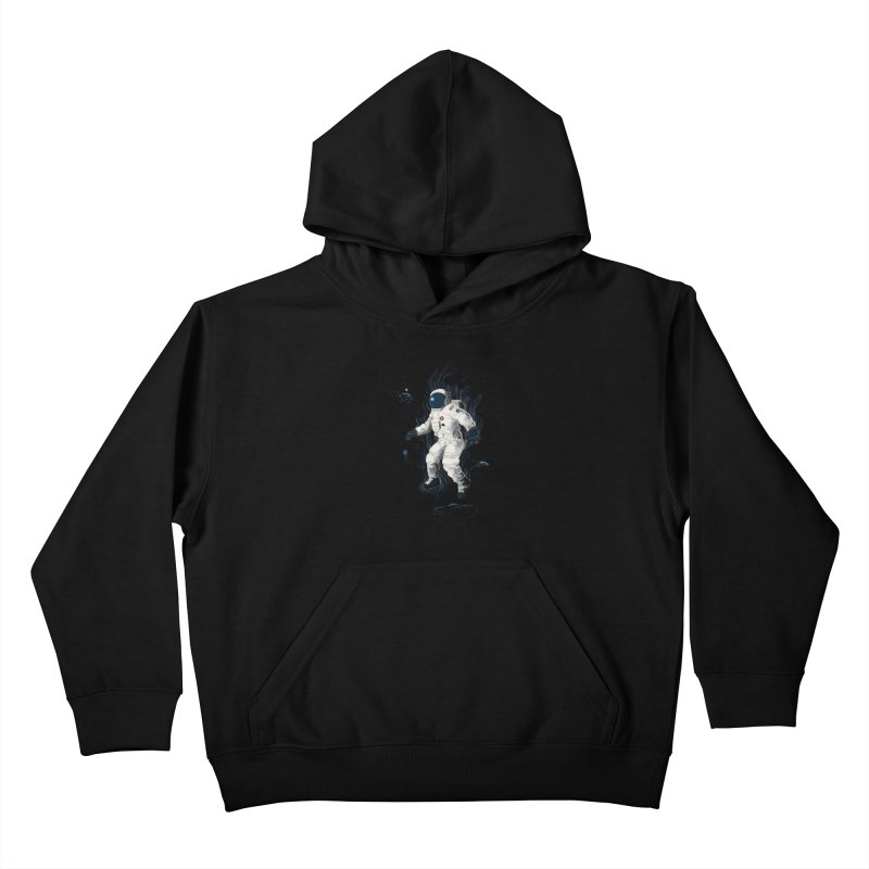 Lost in the abyss of space Kids Pullover Hoody by oktopussapiens's Artist Shop