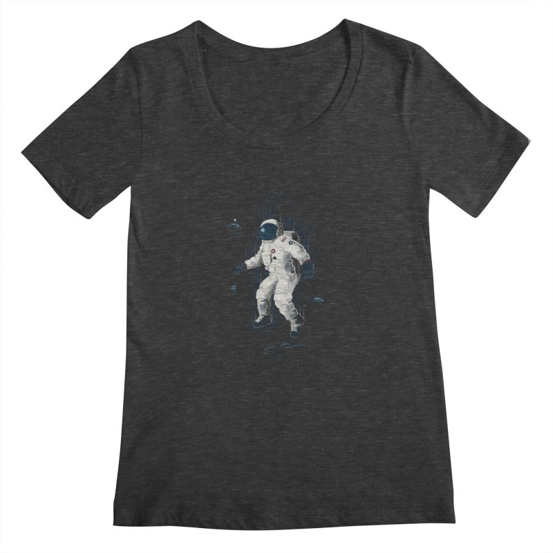 Lost in the abyss of space Women's Scoopneck by oktopussapiens's Artist Shop