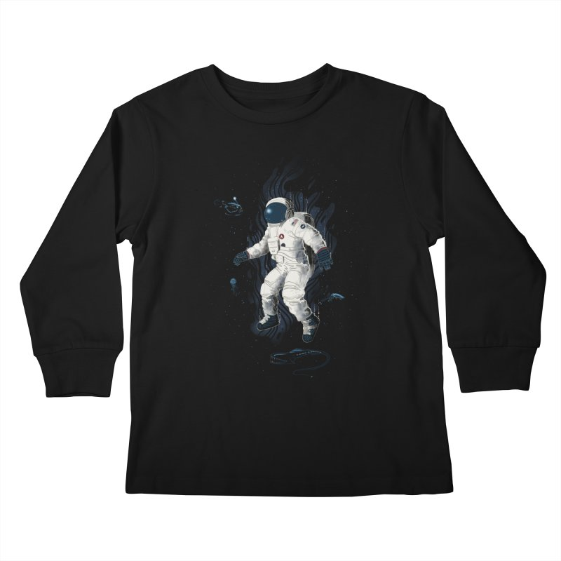 Lost in the abyss of space Kids Longsleeve T-Shirt by oktopussapiens's Artist Shop
