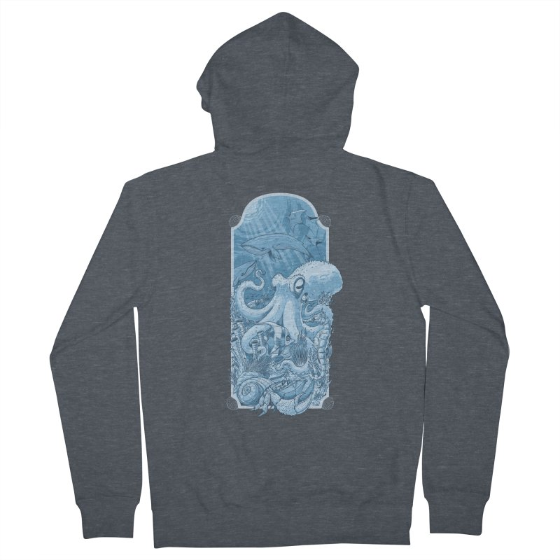 Sea life Men's French Terry Zip-Up Hoody by oktopussapiens's Artist Shop