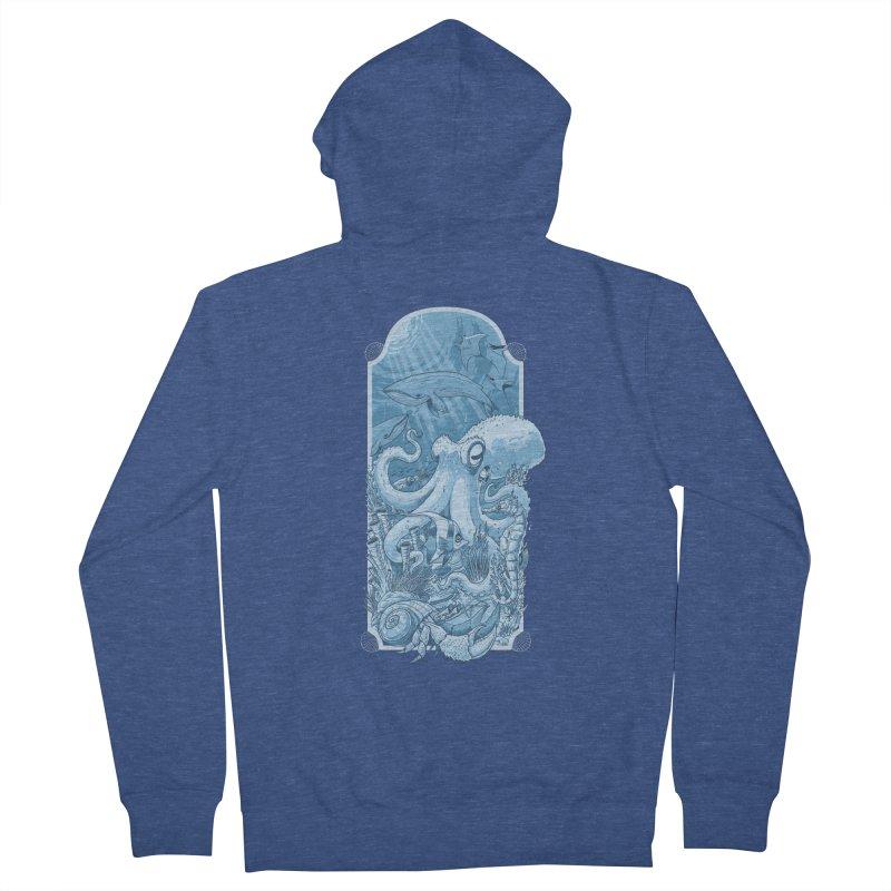Sea life Men's Zip-Up Hoody by oktopussapiens's Artist Shop