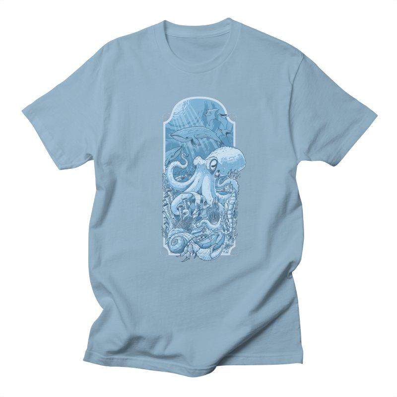 Sea life Men's Regular T-Shirt by oktopussapiens's Artist Shop
