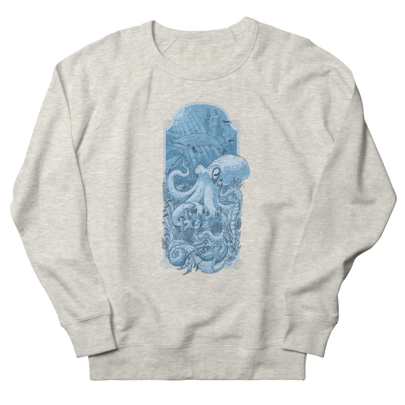 Sea life Men's French Terry Sweatshirt by oktopussapiens's Artist Shop