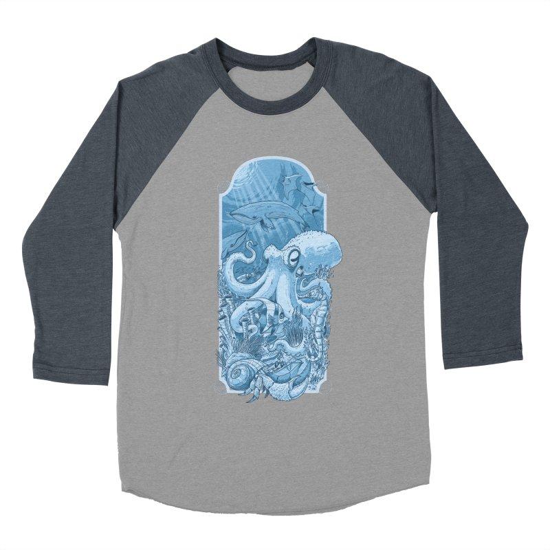 Sea life Women's Baseball Triblend T-Shirt by oktopussapiens's Artist Shop