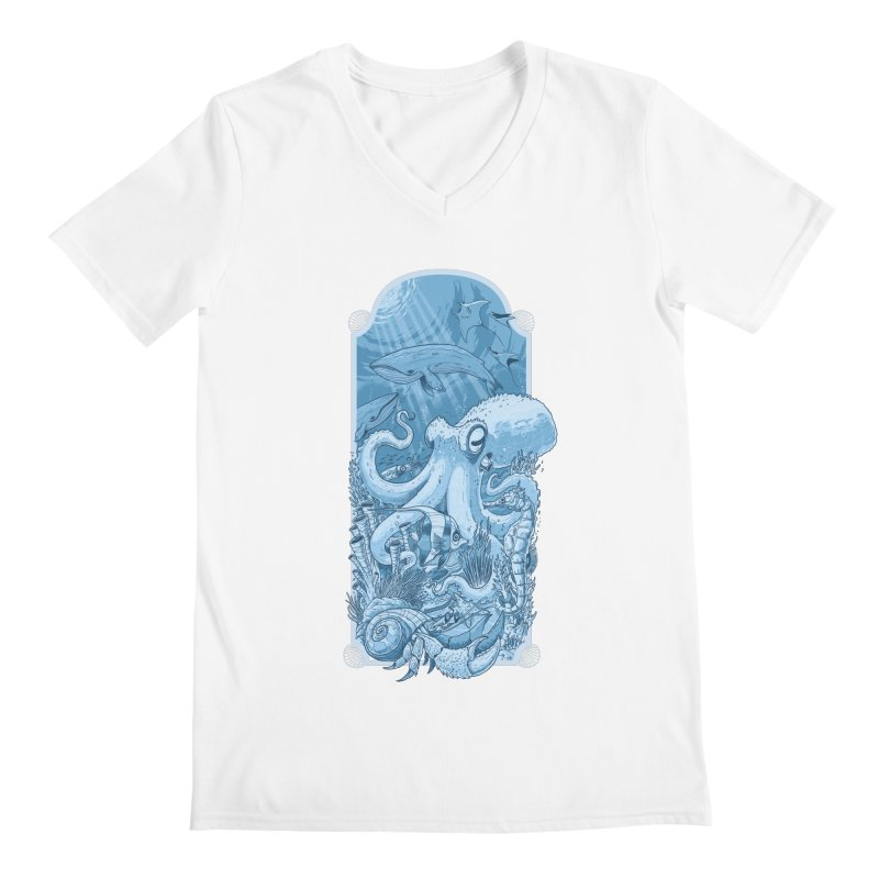 Sea life Men's V-Neck by oktopussapiens's Artist Shop