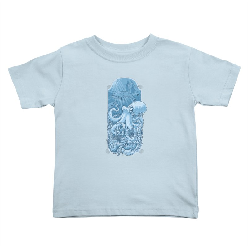 Sea life Kids Toddler T-Shirt by oktopussapiens's Artist Shop