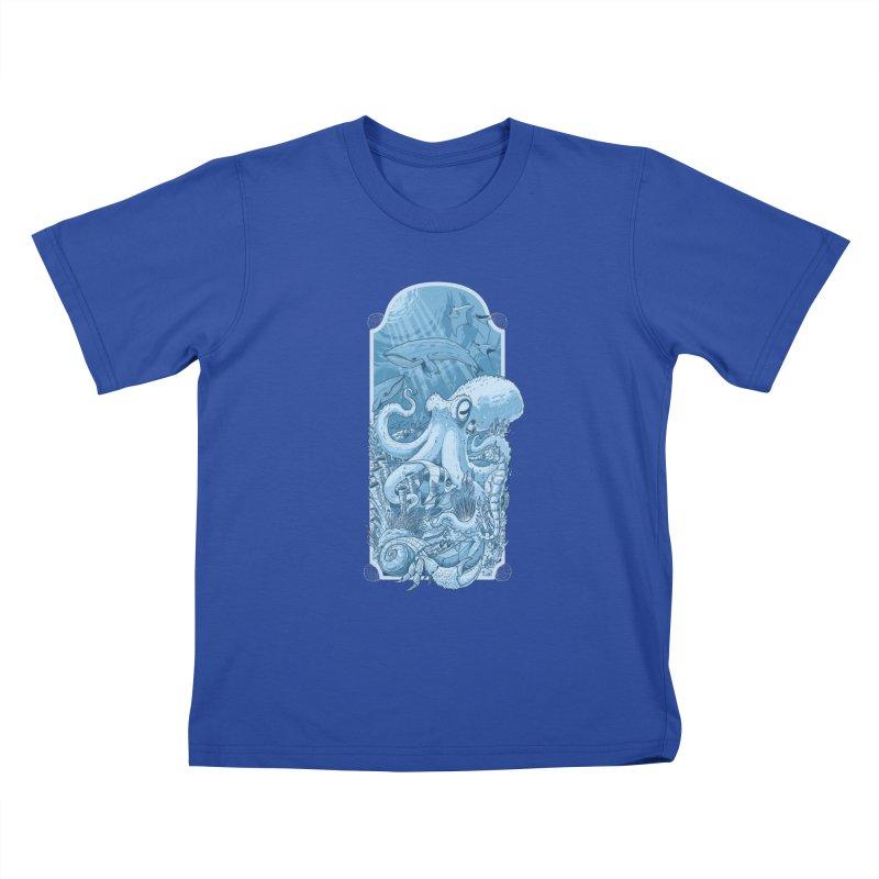 Sea life Kids T-Shirt by oktopussapiens's Artist Shop