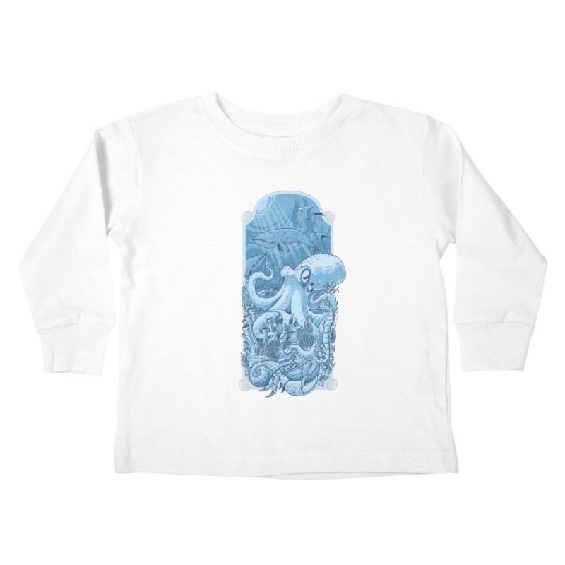Sea life Kids Toddler Longsleeve T-Shirt by oktopussapiens's Artist Shop