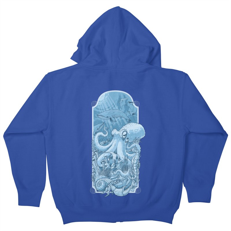 Sea life Kids Zip-Up Hoody by oktopussapiens's Artist Shop