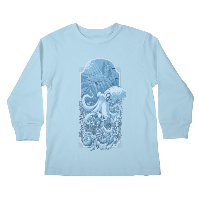 Sea life Kids Longsleeve T-Shirt by oktopussapiens's Artist Shop