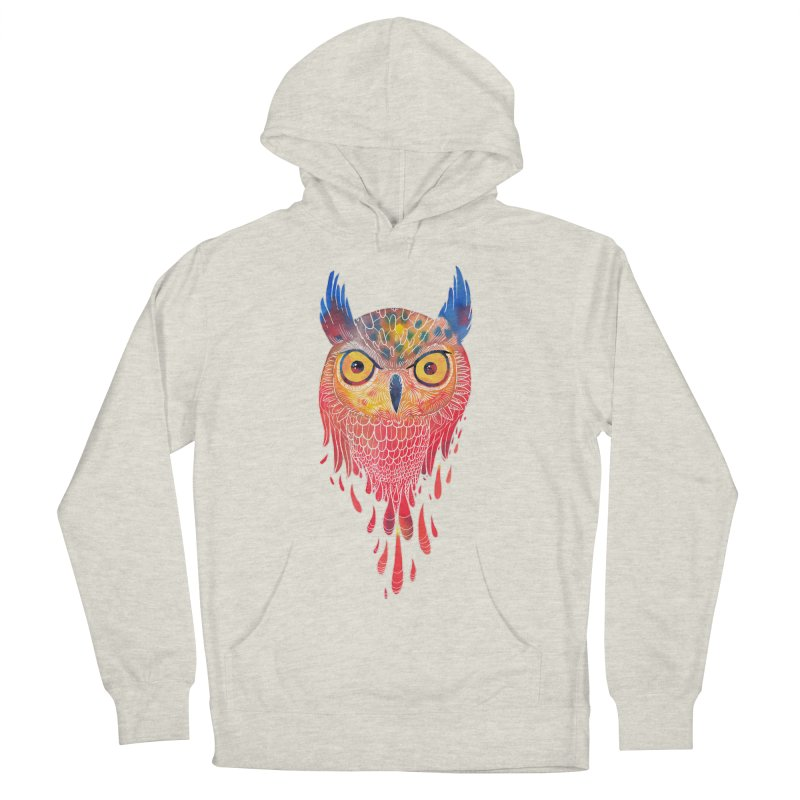 Watercolowl Women's French Terry Pullover Hoody by oktopussapiens's Artist Shop