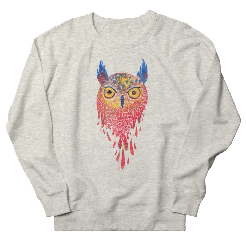 Watercolowl Women's Sweatshirt by oktopussapiens's Artist Shop