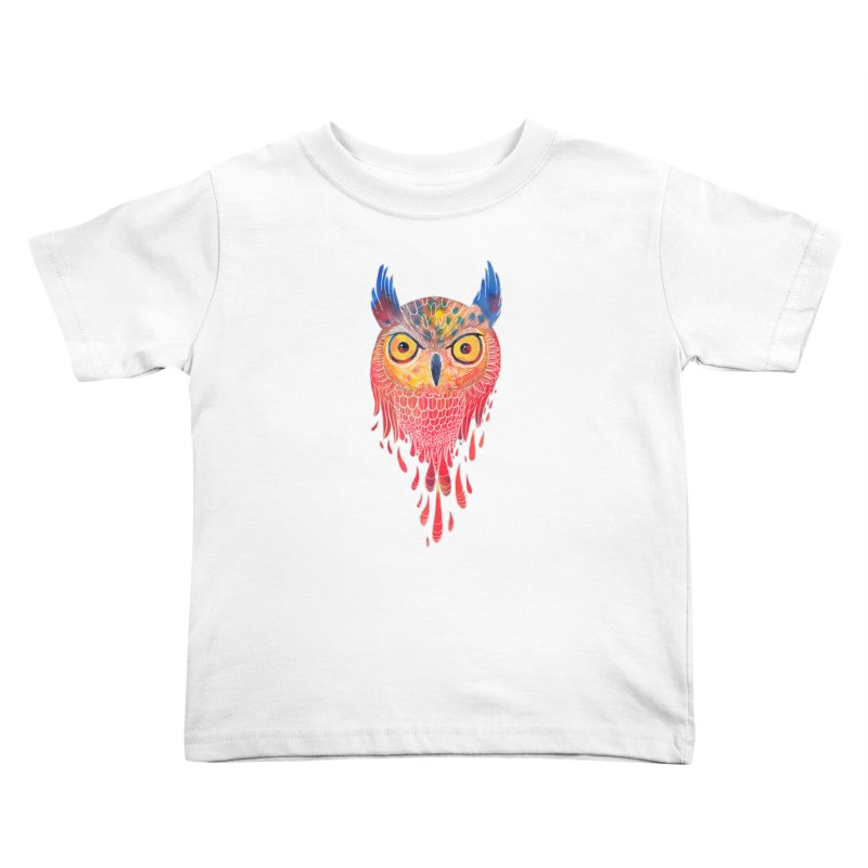 Watercolowl Kids Toddler T-Shirt by oktopussapiens's Artist Shop