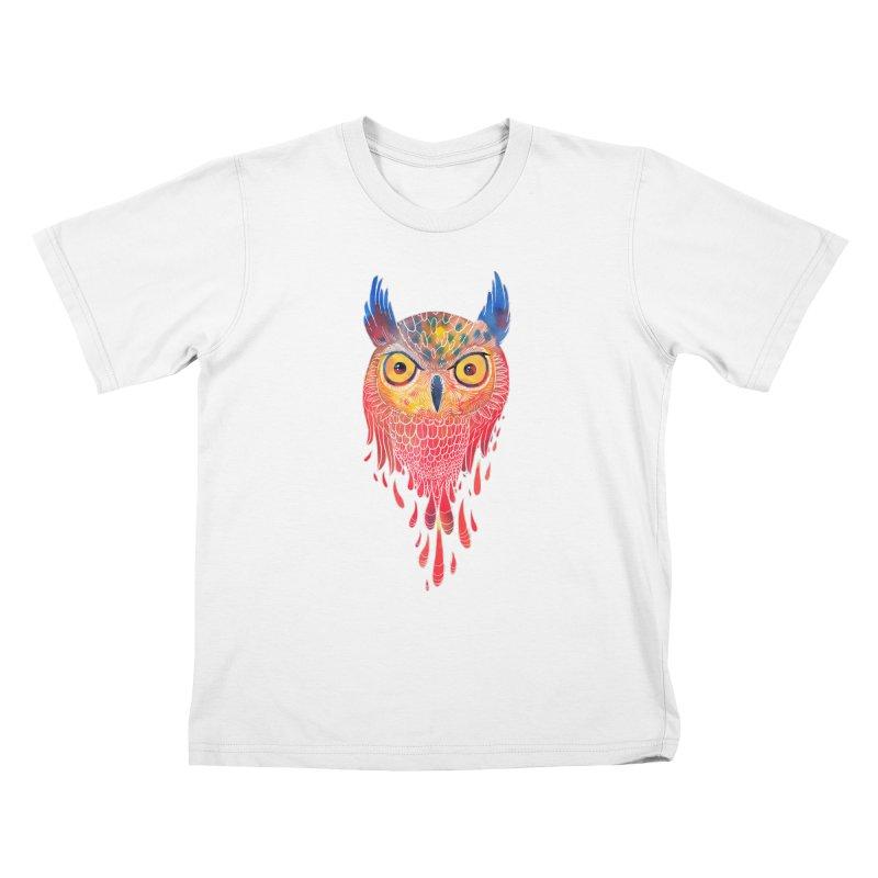 Watercolowl Kids T-shirt by oktopussapiens's Artist Shop