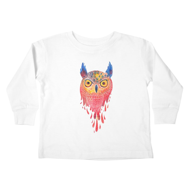 Watercolowl Kids Toddler Longsleeve T-Shirt by oktopussapiens's Artist Shop