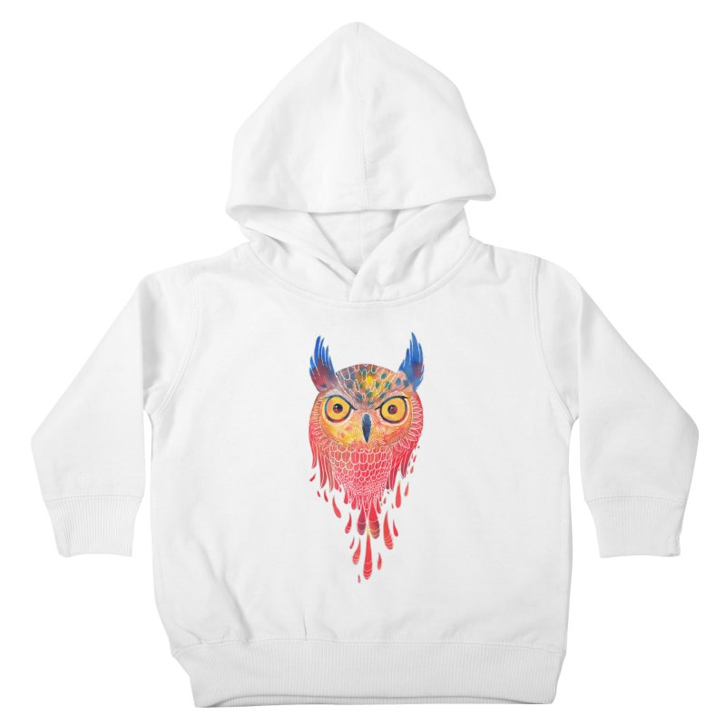 Watercolowl Kids Toddler Pullover Hoody by oktopussapiens's Artist Shop