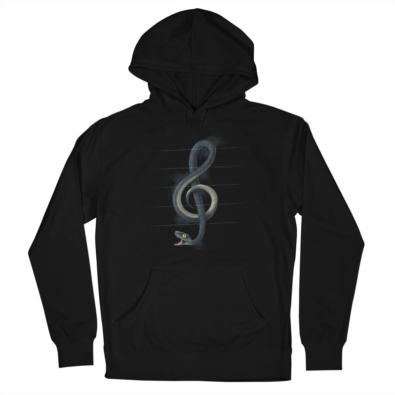 Snake note Men's French Terry Pullover Hoody by oktopussapiens's Artist Shop