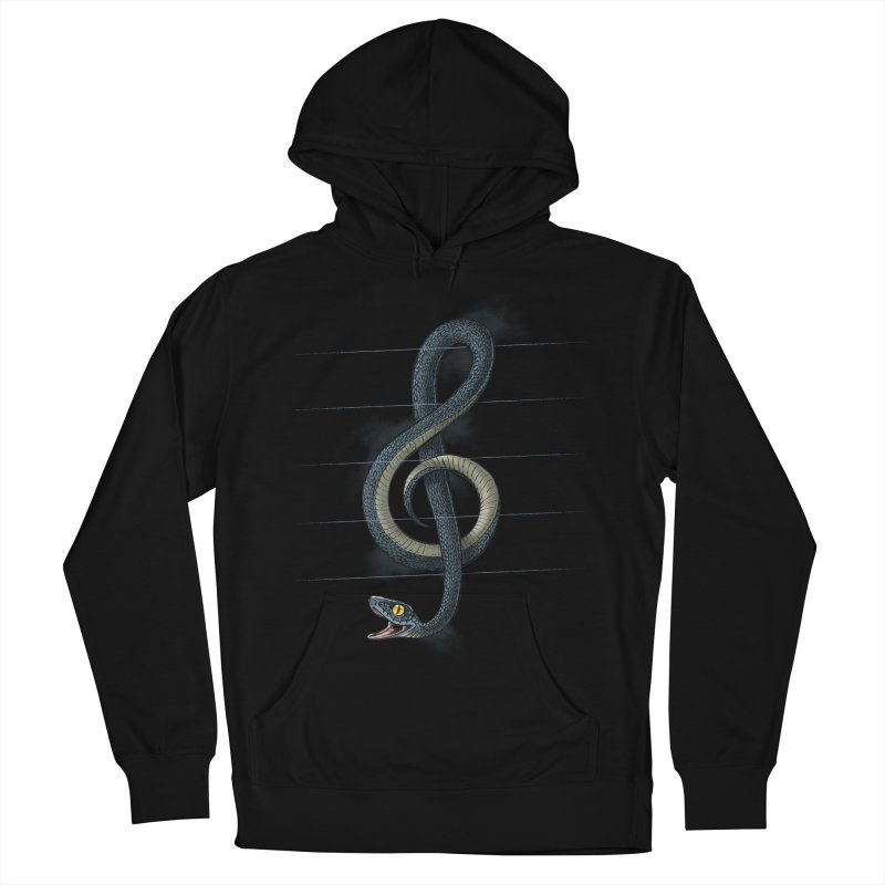 Snake note Women's French Terry Pullover Hoody by oktopussapiens's Artist Shop