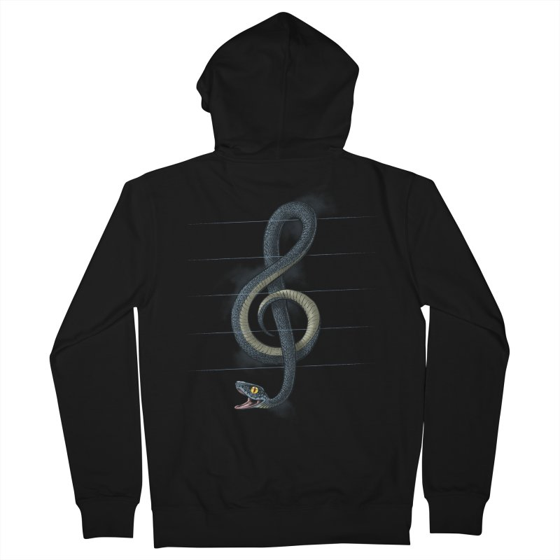 Snake note Women's Zip-Up Hoody by oktopussapiens's Artist Shop