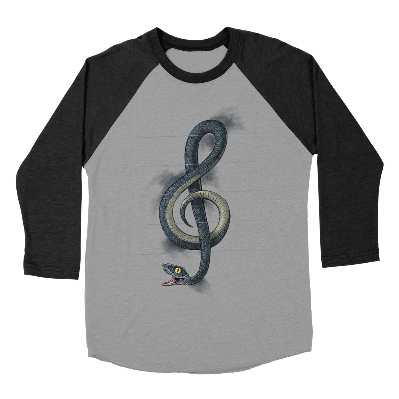 Snake note Men's Baseball Triblend T-Shirt by oktopussapiens's Artist Shop