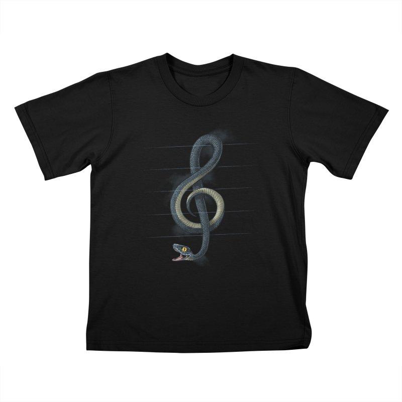 Snake note Kids T-shirt by oktopussapiens's Artist Shop