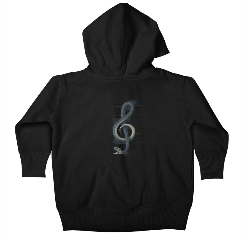 Snake note Kids Baby Zip-Up Hoody by oktopussapiens's Artist Shop