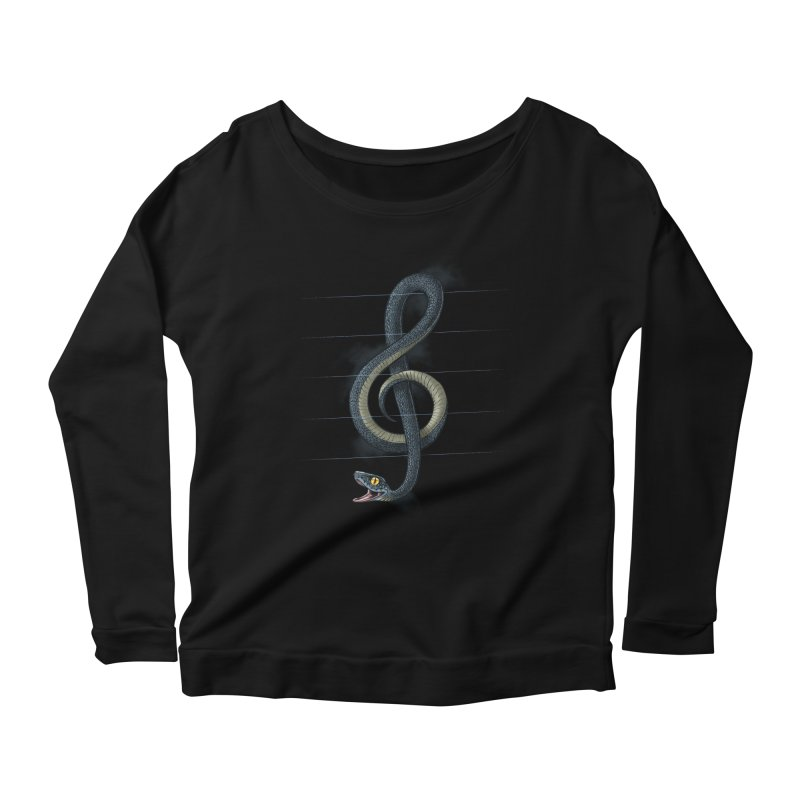 Snake note Women's Scoop Neck Longsleeve T-Shirt by oktopussapiens's Artist Shop