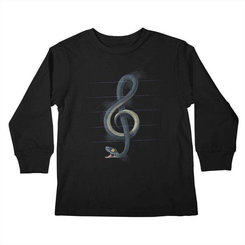 Snake note Kids Longsleeve T-Shirt by oktopussapiens's Artist Shop