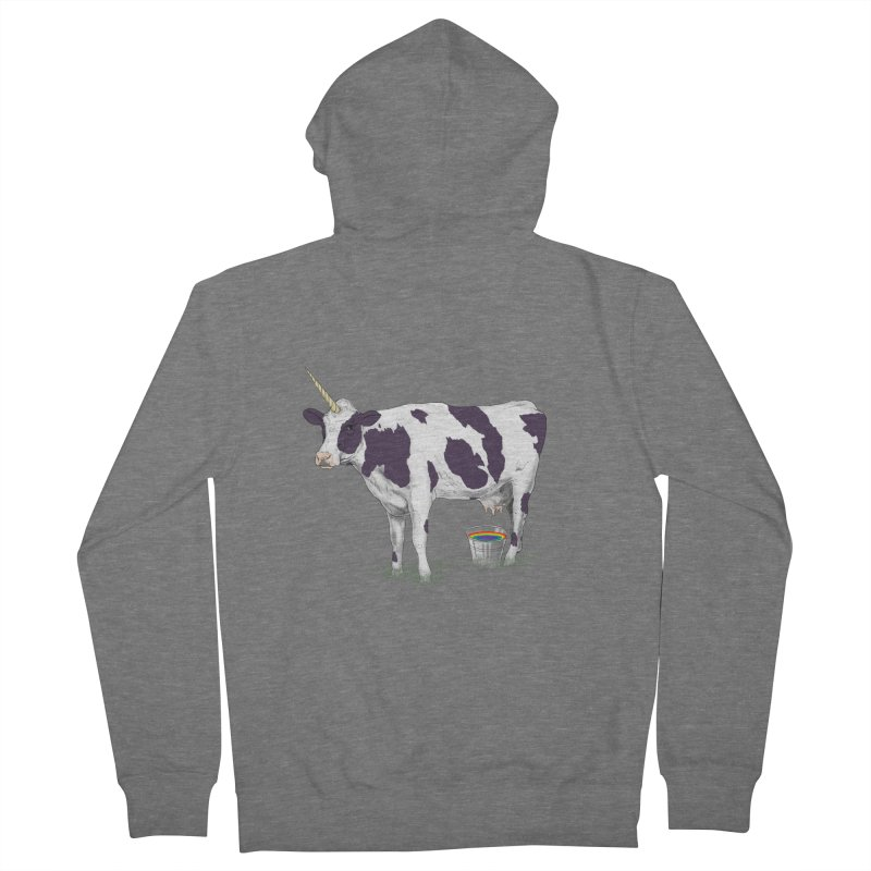 Unicowrn Women's French Terry Zip-Up Hoody by oktopussapiens's Artist Shop