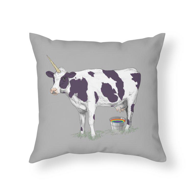 Unicowrn Home Throw Pillow by oktopussapiens's Artist Shop
