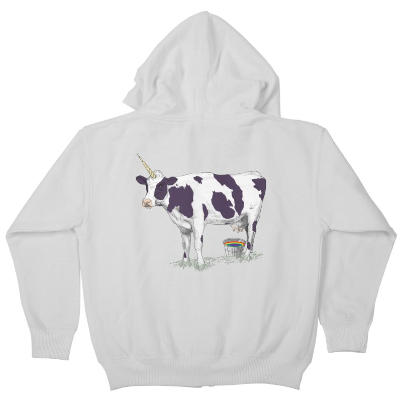 Unicowrn Kids Zip-Up Hoody by oktopussapiens's Artist Shop