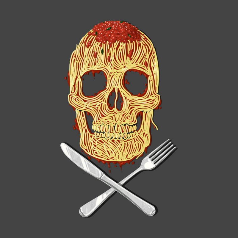 Spaghetti skull Men's T-Shirt by oktopussapiens's Artist Shop