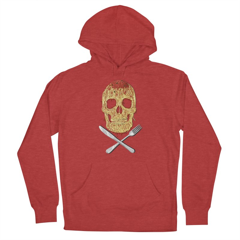 Spaghetti skull Men's French Terry Pullover Hoody by oktopussapiens's Artist Shop