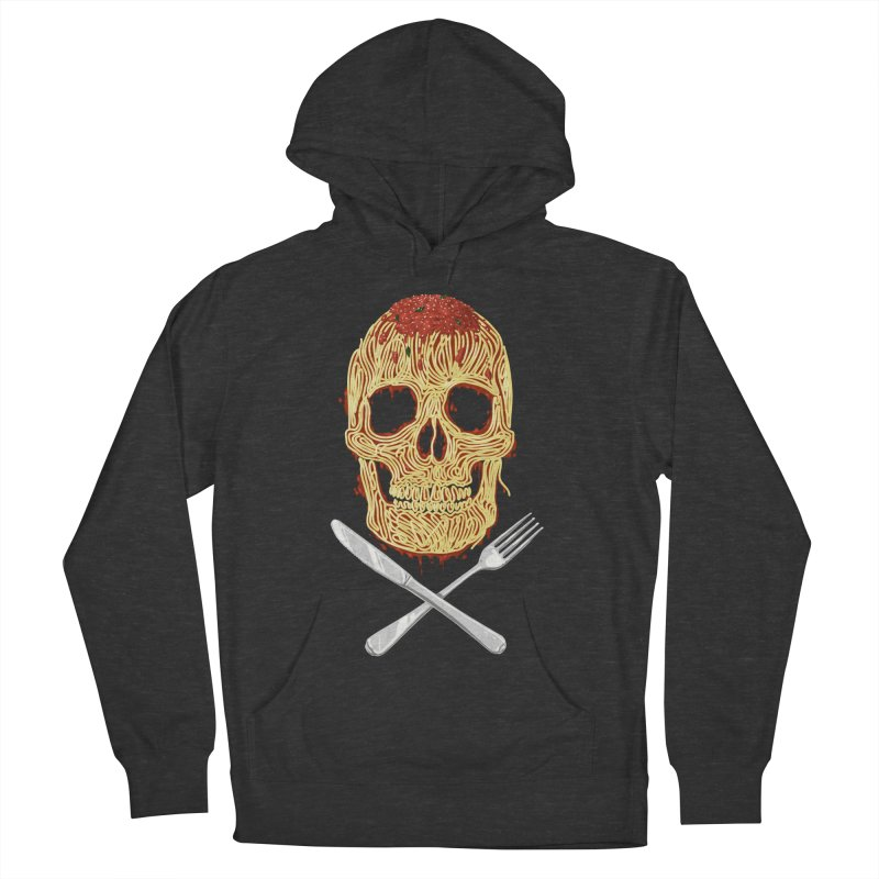 Spaghetti skull Women's French Terry Pullover Hoody by oktopussapiens's Artist Shop