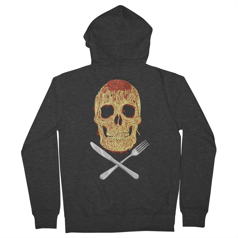 Spaghetti skull Women's Zip-Up Hoody by oktopussapiens's Artist Shop
