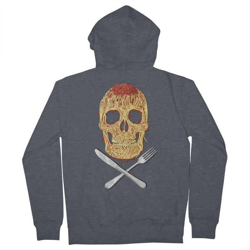 Spaghetti skull Women's Zip-Up Hoody by oktopussapiens's Artist Shop