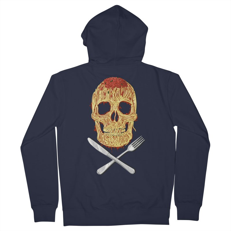 Spaghetti skull Women's French Terry Zip-Up Hoody by oktopussapiens's Artist Shop