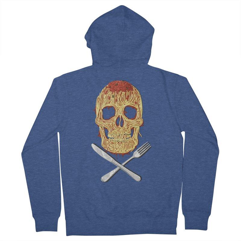 Spaghetti skull Men's Zip-Up Hoody by oktopussapiens's Artist Shop