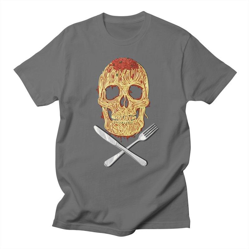 Spaghetti skull Men's Regular T-Shirt by oktopussapiens's Artist Shop