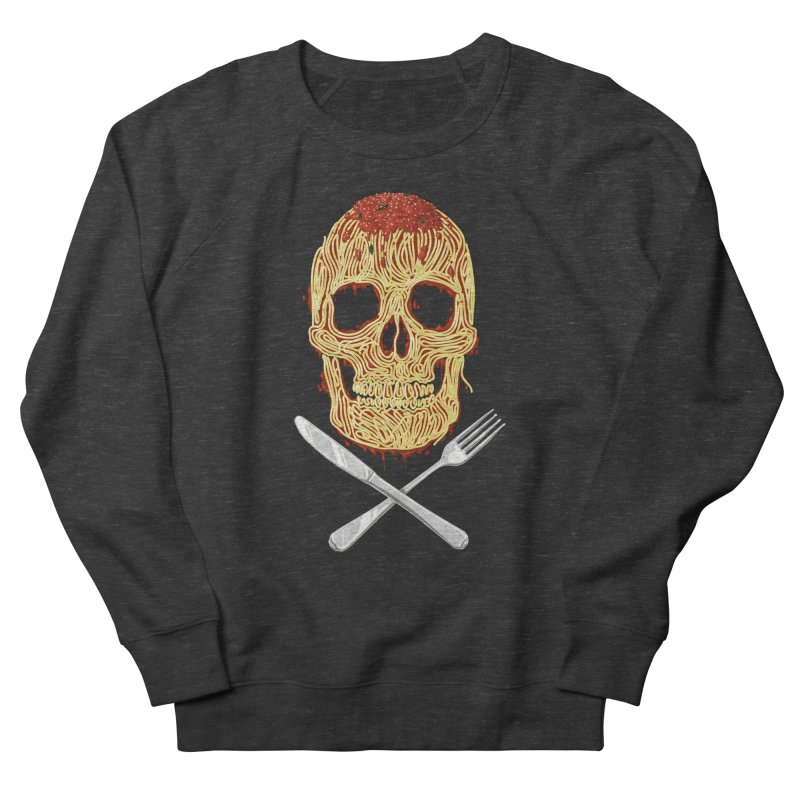 Spaghetti skull Women's French Terry Sweatshirt by oktopussapiens's Artist Shop