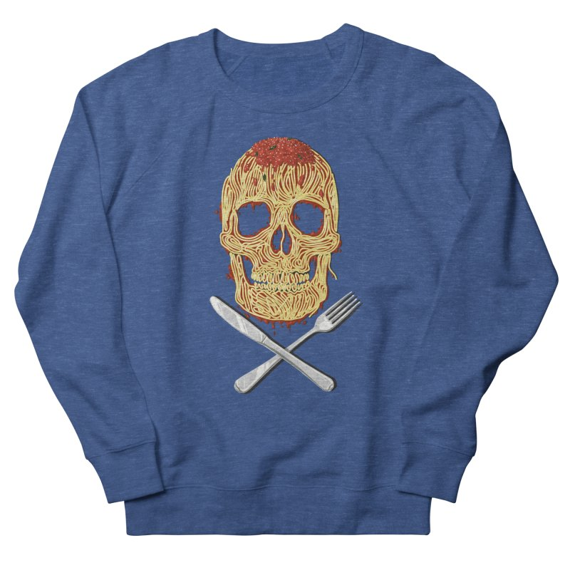 Spaghetti skull Men's French Terry Sweatshirt by oktopussapiens's Artist Shop