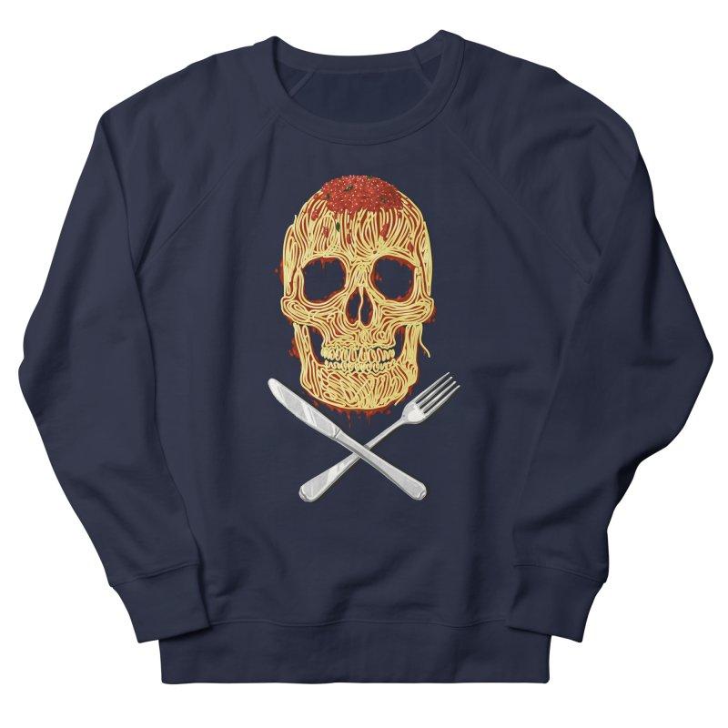 Spaghetti skull Men's French Terry Sweatshirt by oktopussapiens's Artist Shop
