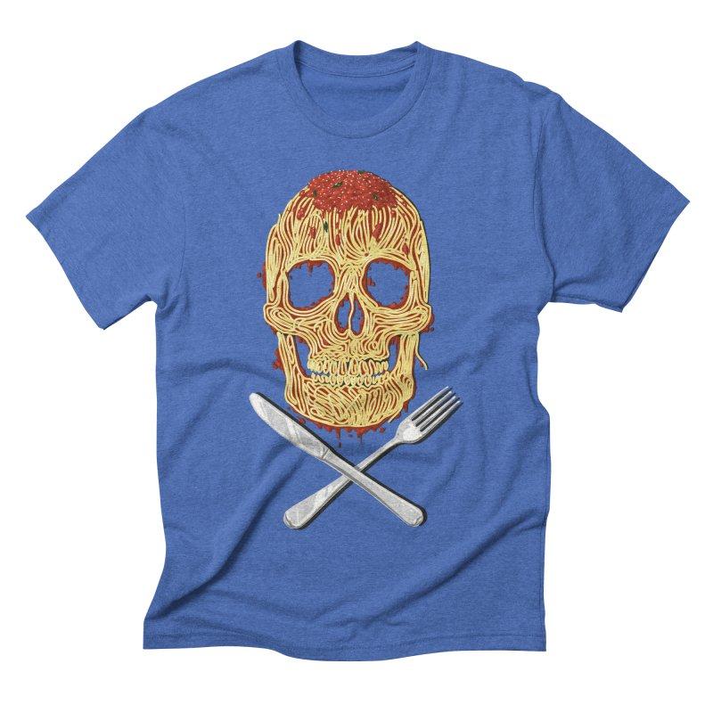 Spaghetti skull Men's Triblend T-shirt by oktopussapiens's Artist Shop
