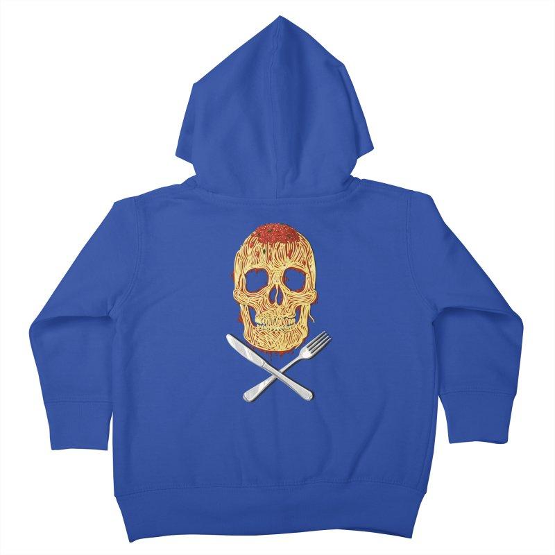 Spaghetti skull Kids Toddler Zip-Up Hoody by oktopussapiens's Artist Shop