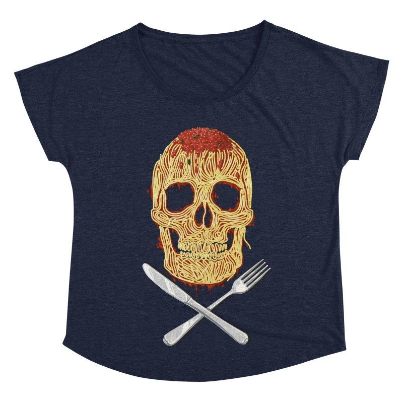 Spaghetti skull Women's Dolman Scoop Neck by oktopussapiens's Artist Shop