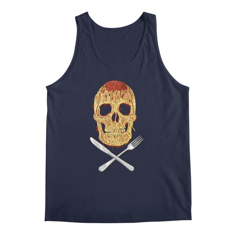 Spaghetti skull Men's Tank by oktopussapiens's Artist Shop