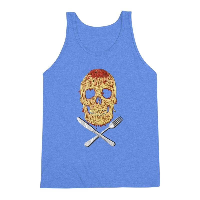 Spaghetti skull Men's Triblend Tank by oktopussapiens's Artist Shop