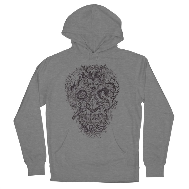 Calvariam naturalis Women's French Terry Pullover Hoody by oktopussapiens's Artist Shop